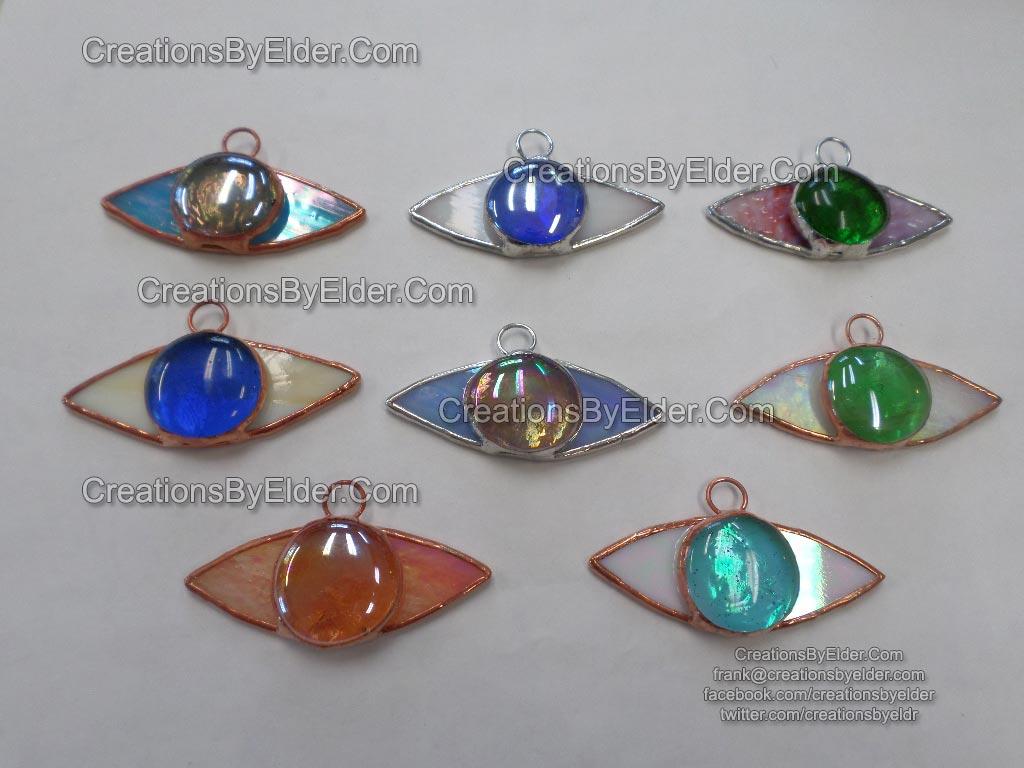 stained glass suncatcher sg eyez eye eyes art glass