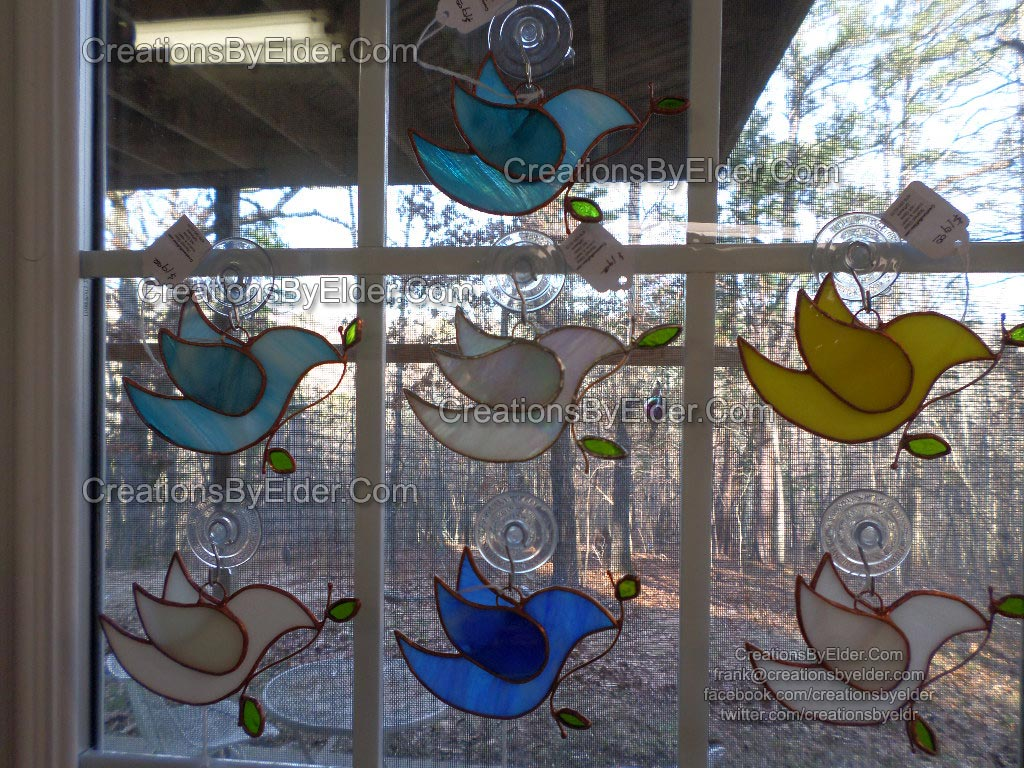 stained glass sg dove dovez suncatcher for sale gift giftware