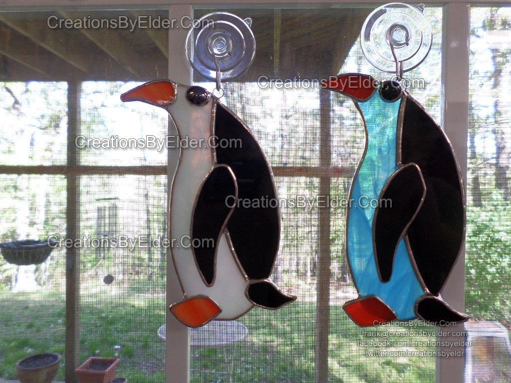 stained glass suncatcher sun catcher penguin sg penguinz