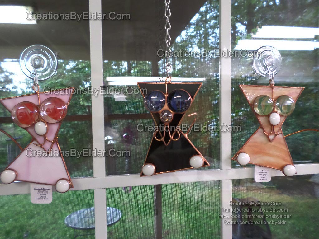 stained glass art suncatcher sg catz cats