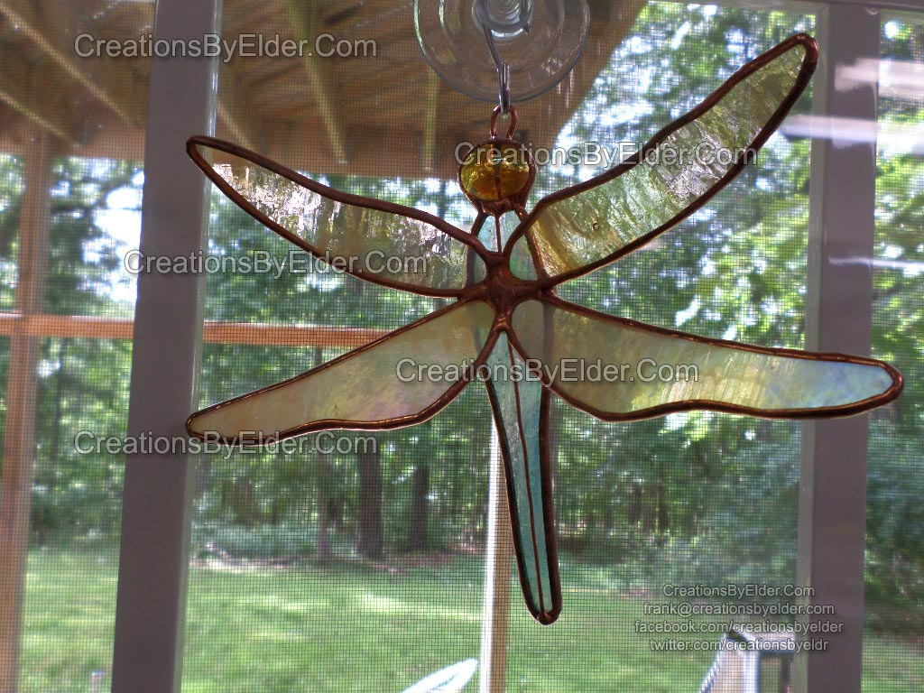 stained glass suncatcher dragonflies dragonfly sg dragonfliez