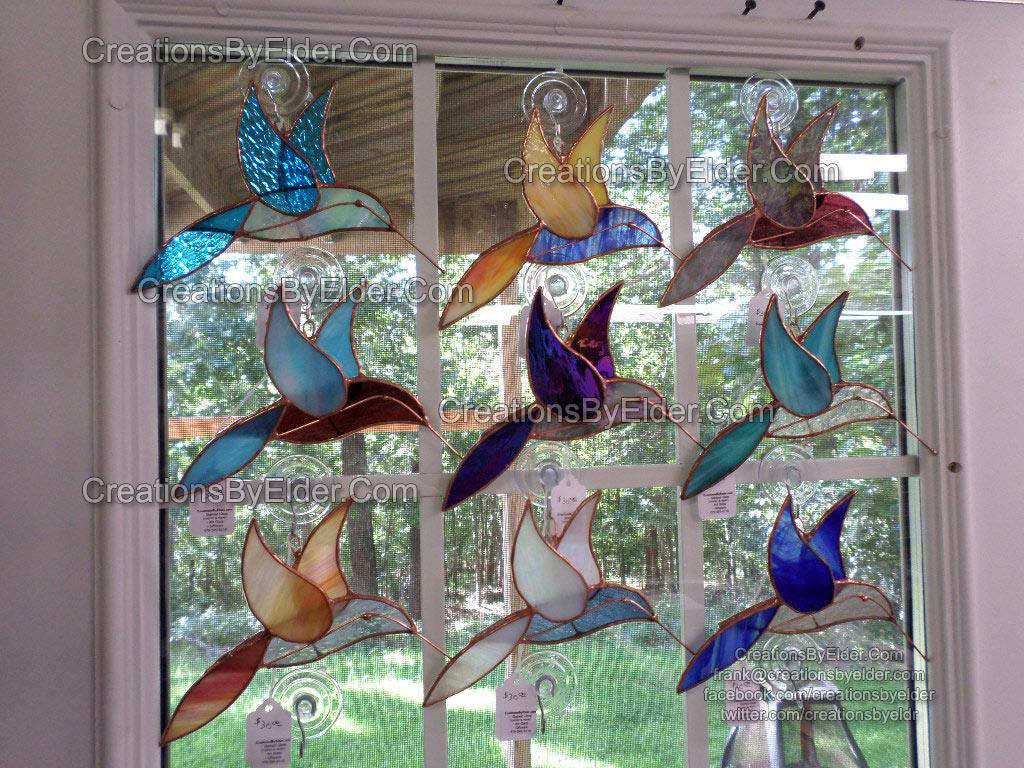 stained glass humming bird sg hummingbirdz suncatcher spring garden decoration window
