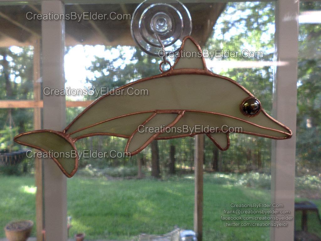 stained glass suncatcher sg dolphin dolphinz