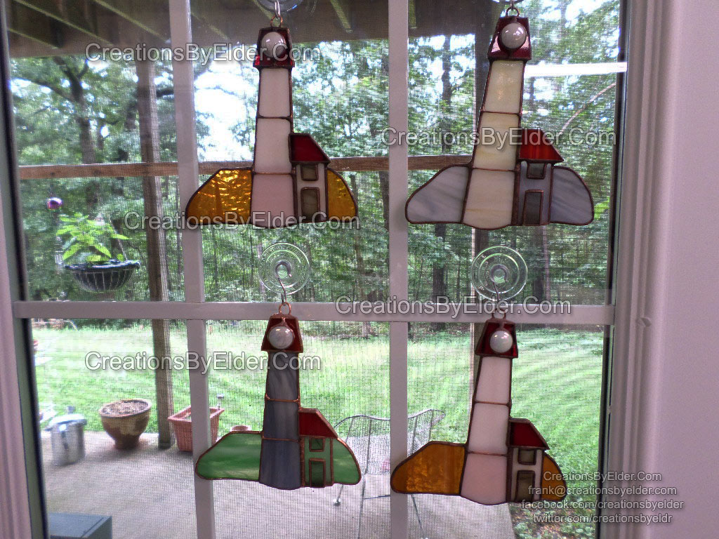 stained glass suncatcher lighthouse sg lighthouze window decoration gift arkansas oklahoma