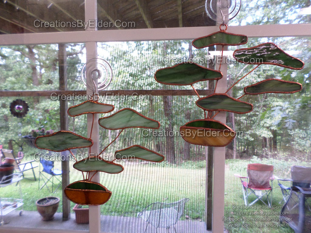stained glass sg art bonsai treez trees suncatcher sun catcher