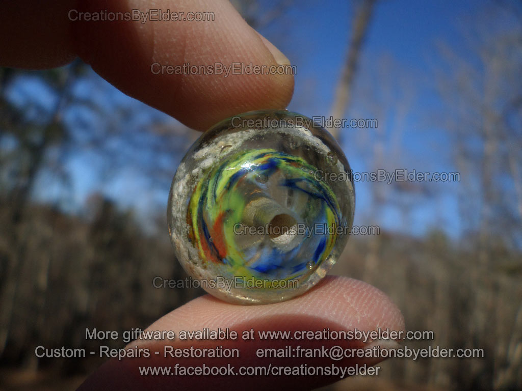 memorial bead glass hot lampwork ashes