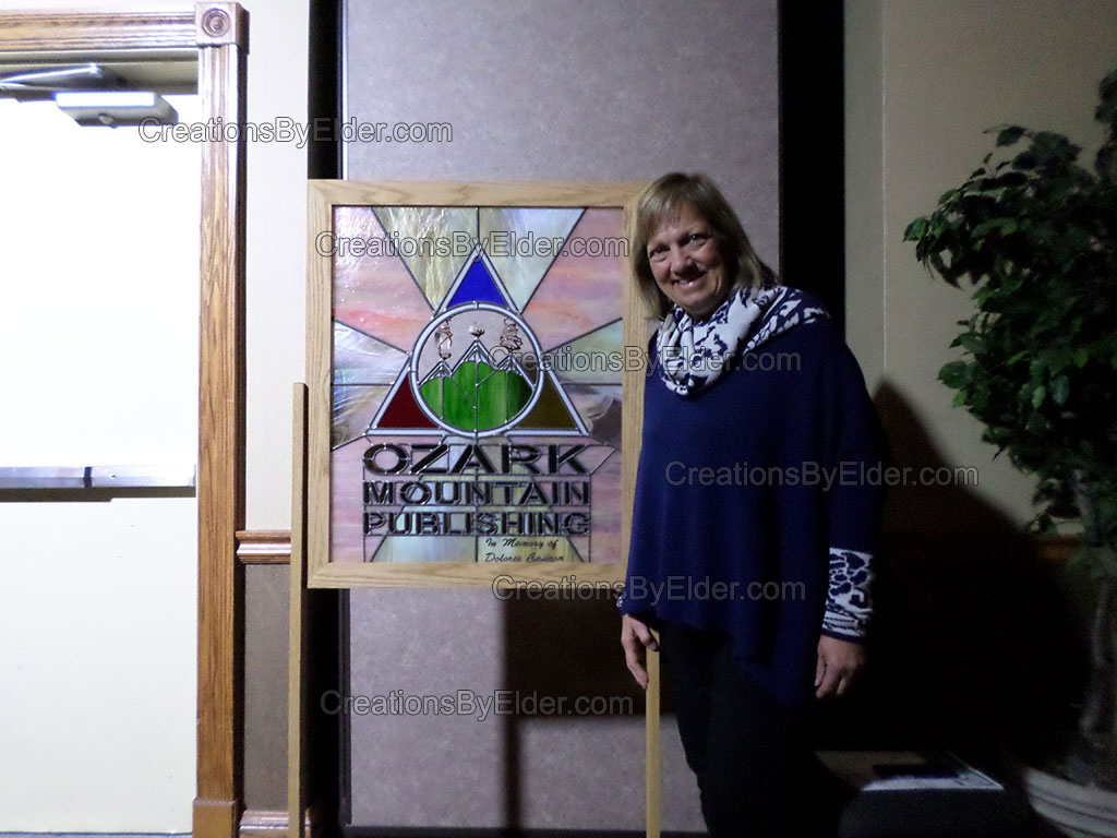 dolores cannon julia memorial piece ozark mountain publishing stained art glass