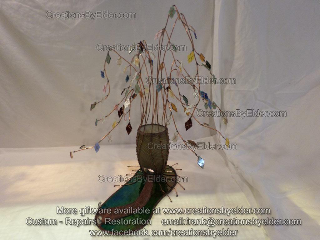 art glass sculpture finding your way home frank elder artist