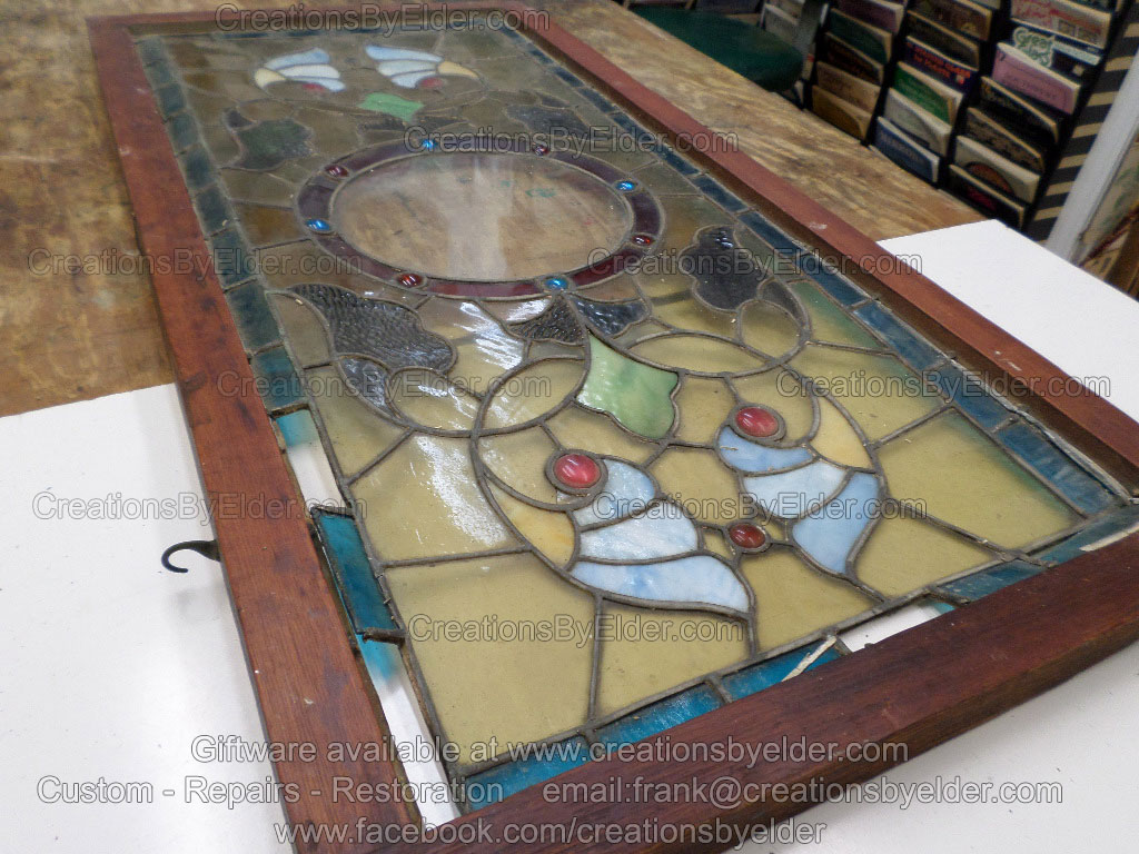 Repair and restoration services of stained glass by Frank Elder of Creations By Elder