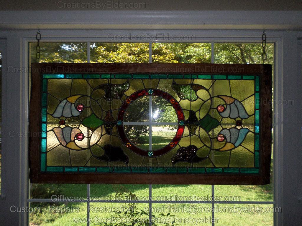 stained glass window panel repair restoration services studio frank francis elder oklahoma arkansas missouri kansas